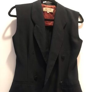 Double breasted navy blue vest Henny